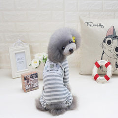 2017DogBaby pet dog clothing spring and summer hot style wholesale good friend four-leg home clothes grey s.