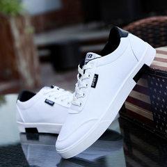 爆款经典学生帆布鞋男生潮流小白鞋透气学院风运动休闲男鞋批发 白色 39