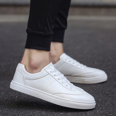 Wholesale summer new men`s shoes breathable wear - resistant white shoes sports casual shoes skatebo white 37