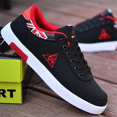 The new style of spring 2018 single shoe canvas low upper belt leisure shoes Korean breathable board red 39