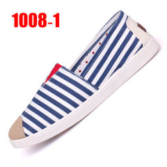 Summer new style of old Beijing cloth shoe female recreational 100 take a fisherman`s shoe lazy pers 1008-1 blue 36