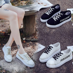 Korean version of canvas shoes women low help classical women`s casual white shoes students cloth sh White (one yard smaller) 36