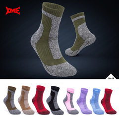 Manufacturers direct new breathable heat insulation thick outdoor climbing socks towel bottom men an Black/fantasy grey M (35 to 39)