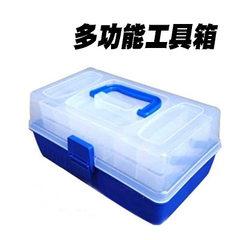 钓鱼多功能手提工具箱工具盒 路亚箱 渔具箱 鱼饵箱 路亚盒配件盒 29.4×18.7×15