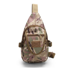 Direct selling new military fan tactics portable shoulder bag outdoor riding bag fashion sports ches Woodland camouflage