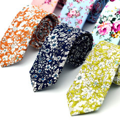 Men`s printed cotton tie, European and American style casual collar, groom`s groomsman factory direc MK03