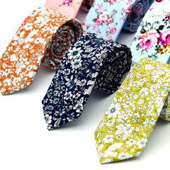男士棉质印花领带 欧美时尚休闲领呔 新郎伴郎厂家直销个性定做 MK03