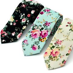 男士棉质印花领带 欧美风时尚休闲领呔 新郎伴郎主持个性化定做 MK03