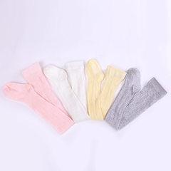 夏季 棉儿童防蚊袜全花纹 婴儿薄棉网眼连裤袜 宝宝打底袜袜子 白色 6-12个月(S)