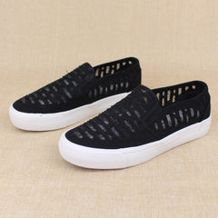 New women`s breathable mesh canvas shoes new women`s casual shoes 129 April 20 black 35 to 39