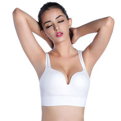 3d-yoga bra a large size waistcoat without a steel ring bra running fitness lingerie woman white s.