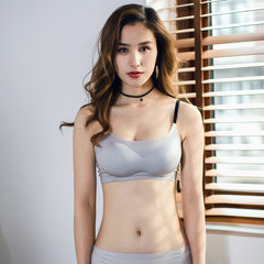 The new one-piece ice silk sleep bra ladies without any trace of steel ring bottom bra manufacturers gray s.
