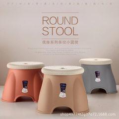 Household thickened plastic stool tea table stool children`s stool bathroom anti-skid small stool ad Small - orange