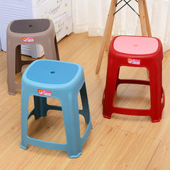 Simple and environment-friendly plastic stools are used for thickening, falling and resisting pressu Side style: red bean paste 32 * 38 * 47
