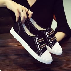 2018 new summer light mouth canvas shoes women wholesale Korean version of small white shoes a foot  white 35