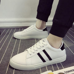 2017 new style summer canvas white shoes leisure flat shoes men`s Korean version of the fashionable  white 39