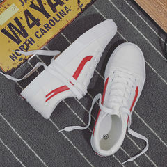 Hot style men`s canvas shoes a breathable loafers large size men`s shoes lovers small white shoes cl white 35 (female)
