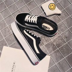 New style canvas shoes for spring 2018 female Korean version student couple leisure shoes fashion bl 701 black 35 (female)