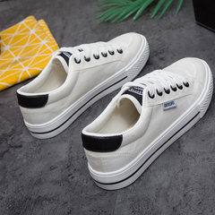 Factory direct selling students classic low - top white shoes with casual white canvas shoes vulcani Pure black 35