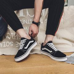 Wholesale men`s shoes summer couple canvas shoes breathable 100 yuaju ulzzang shoes trend students l black Women`s shoes 35
