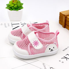 Summer 2018 xiaoxibao baby net shoes breathable soft bottom antiskid baby sandals 0-1-2 year old tod pink 12 (inside length 11)