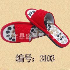 益康宝   鹅卵石按摩鞋  足底按摩更健康  一件代发  免费拿样 红色 36-37