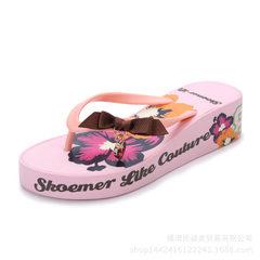 Shoemer2018 summer new leisure flowers ladies cool slippers anti-slippery Eva beach flip-flops custo Lotus root starch 0701 colors 35