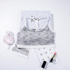 2018 new style stainless steel ring bra four seasons 100 girls` underwear lace flower border light s gray All code