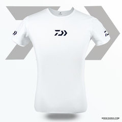 Da yi wa fashion fishing short sleeve outdoor quick dry air sunscreen T-shirt sports running fishing white m