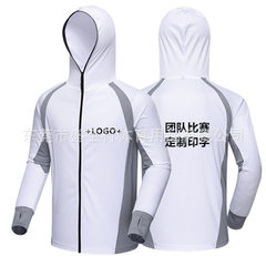 Manufacturer direct sale custom-made fishing wear sunscreen fishing wear summer fishing wear insect  white xs