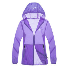 Outdoor new sunblock women`s summer skin jacket men`s sun-sun-sun-sun-sun-sun-sun-sun-protective lon Female - purple m
