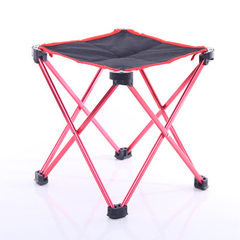 600D Oxford cloth camping leisure folding chair size aluminum alloy portable multi-functional four-l Yellow large.