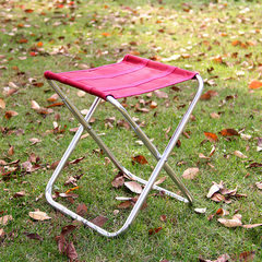 Factory direct sale outdoor camping folding chair adult mini portable aluminum alloy fishing chair Romantic purple