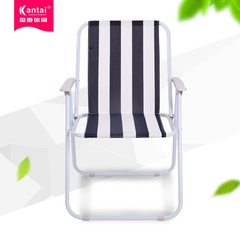 Manufacturer spot manufacturers direct selling spring leisure folding portable beach fishing student Black and white striped Oxford cloth 52 * 44 * 76