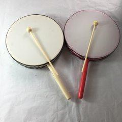 定制打击乐器手敲鼓 带把手鼓 儿童舞蹈敲打鼓 手鼓带把 红