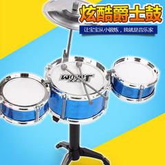 Manufacturers directly sell children`s musical instrument drum set drum simulation jazz music toys p blue