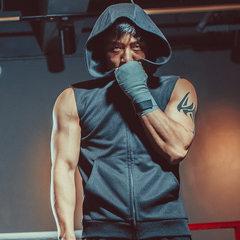 春季新款运动健身衣 男 拉链无袖背心健身服 男士 厂家直销 黑色 M