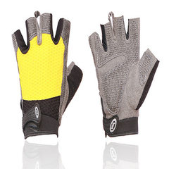 New luying fitness gloves men and women breathable anti-skid exercise protective hand yoga equipment yellow s.