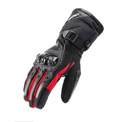 Winter motorcycle gloves waterproof warm four seasons cycling motorcycle riders anti-fall cross-coun red m
