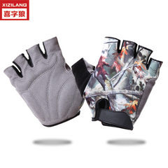 Bicycle riding gloves refer to amazon hot style for men and women`s rubber anti-skid and shockproof  Black printing s.