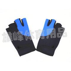 健身运动骑行手套半指防滑自行车户外登山训练手套厂家直销定做 蓝色 M