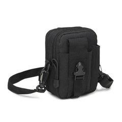 第7区同款战术挂包穿皮带户外腰包跑步运动腰包休闲手机包货源 黑色 均码