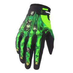 摩托车骑行手套 自行车长指手套户外运动秋冬款 防水鬼爪全指防风 防水鬼爪长指手套绿色 S