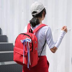 日系洛丽塔软妹少女网纱 丝绸系带玫瑰花爱心粉嫩学生双肩包书包 白色