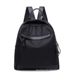 Manufacturer wholesale Oxford cloth double shoulder bag women`s style 2018 new Korean version of fas black