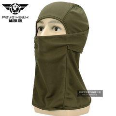 跨境 战术头套迷彩头套户外骑行速干防尘套头护脸防晒战术头套面 绿色 均码