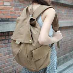 Seven-color cotton backpack manufacturers wholesale men and women Korean version of the college wind khaki