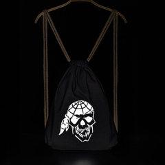 DY直供万圣节道具海盗包反光骑行夜光背包礼品包抽绳双肩折叠包 帽子鬼头