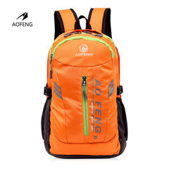 Aofeng luggage wholesale backpack double shoulder backpack new style students outside leisure travel Wine red