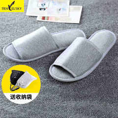 Xintianyou travel portable folding slippers business hotel slippers cotton mop slippers four seasons white 35-43 yards